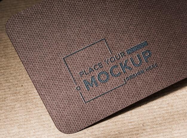 Identidad de marca maqueta de tarjeta de visita alta vista PSD gratuito