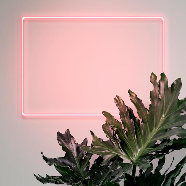 Il tuo design qui segno al neon Psd Gratuite