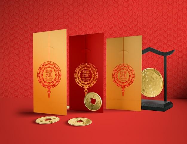 Illustrazione cinese del nuovo anno di progettazione semplice Psd Gratuite