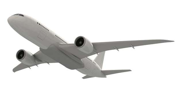 Imagen tridimensional de un avión PSD Premium