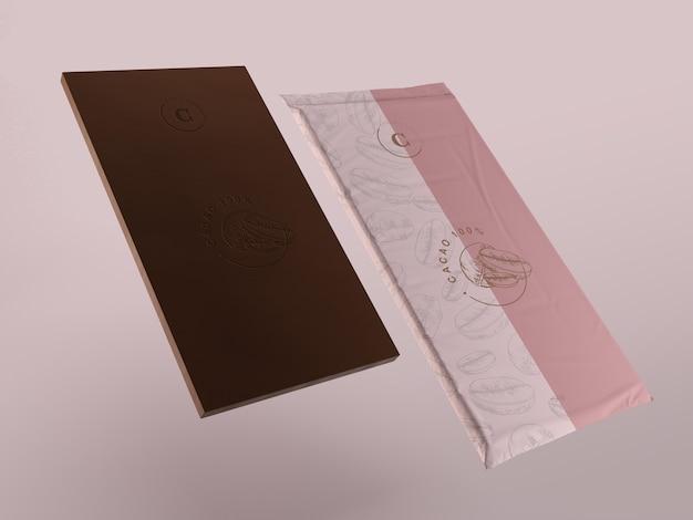 Imballaggi in plastica per tavoletta di cioccolato Psd Gratuite