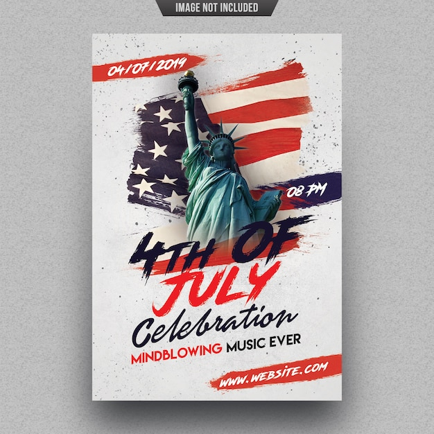Independence day party flyer sjabloon Premium Psd