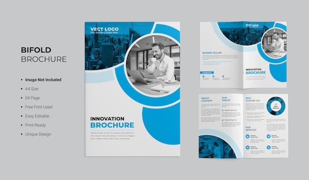Innovatie tweevoudig brochureontwerp Premium Psd