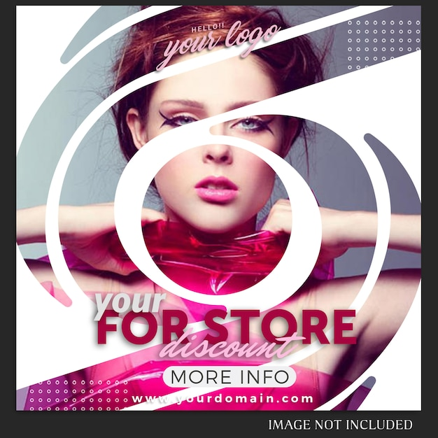 Instagram-berichtsjabloon voor verkoop, winkelen, winkel, campagne, collectie concept Premium Psd