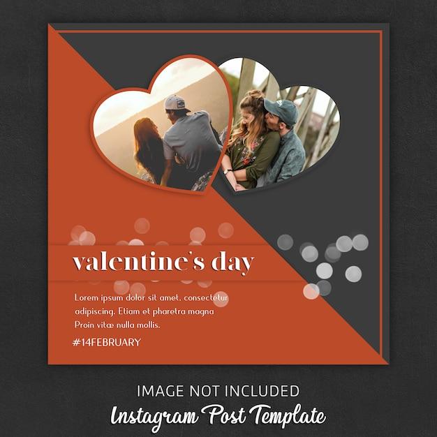Instagram-postsjablonen voor valentijnsdag Premium Psd