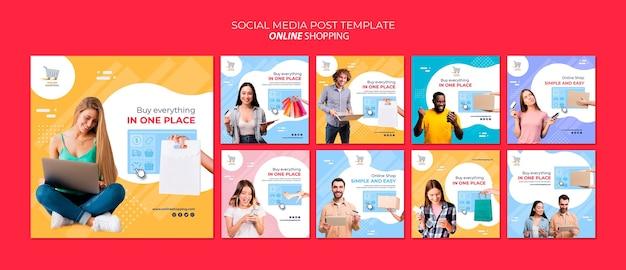 Instagram postverzameling voor online winkelen Premium Psd
