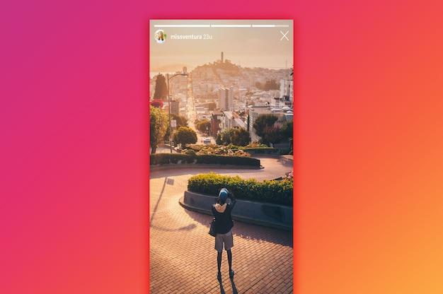 Instagram stories mockup Psd Premium