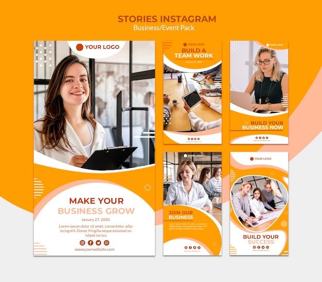 Instagram-verhalen voor het opbouwen van een bedrijf Gratis Psd