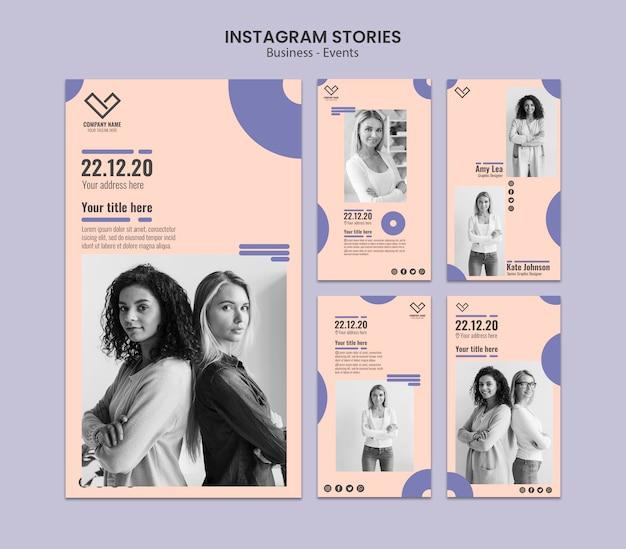 Instagram verhalenontwerp voor sjabloon Gratis Psd