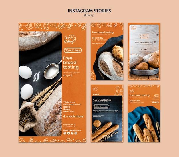 Instagram verhalensjabloon voor bakkerijbedrijf Gratis Psd