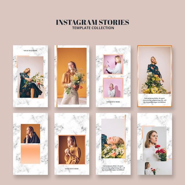 Instagramverhalen sjablonen voor levensstijl Gratis Psd