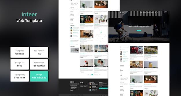 Inteer blog websjabloon Premium Psd
