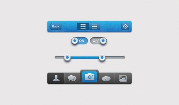 -interface iphone ui gebruikersinterface Gratis Psd