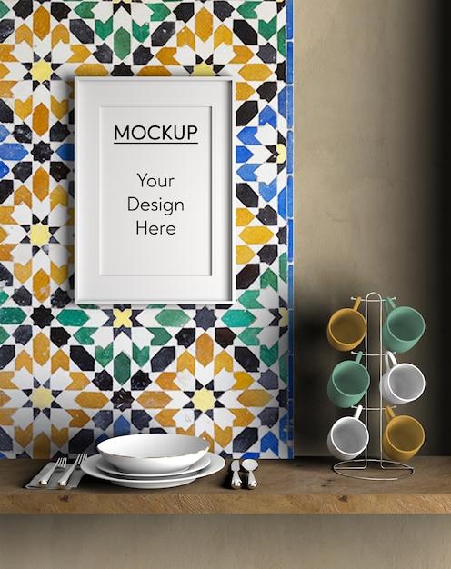 Interieur design keukenartikelen Gratis Psd