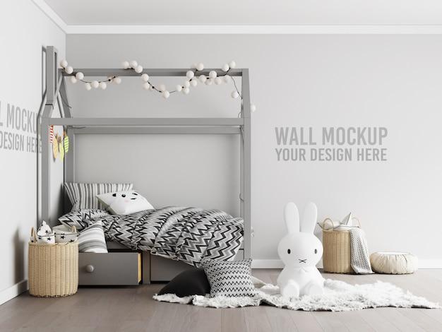 Interieur kinderen speelkamer muur met decoraties Premium Psd