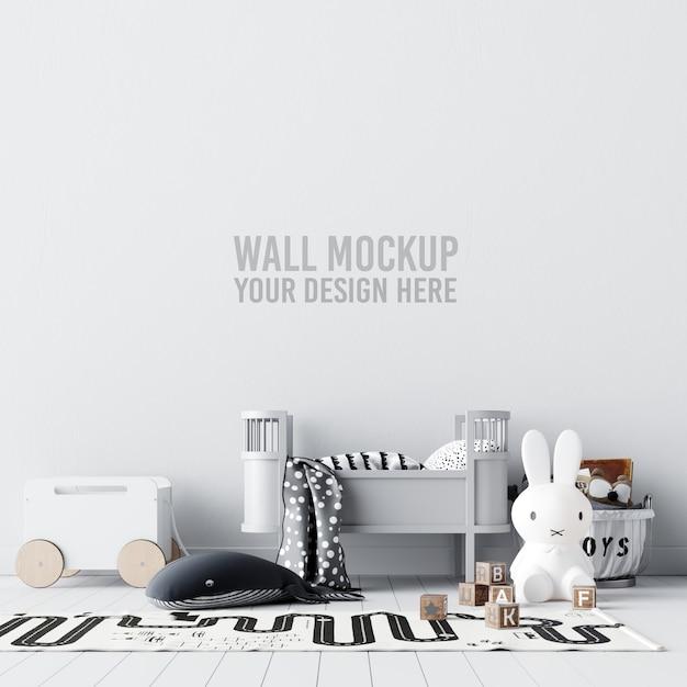 Interieur kinderkamer wallpaper mockup Premium Psd