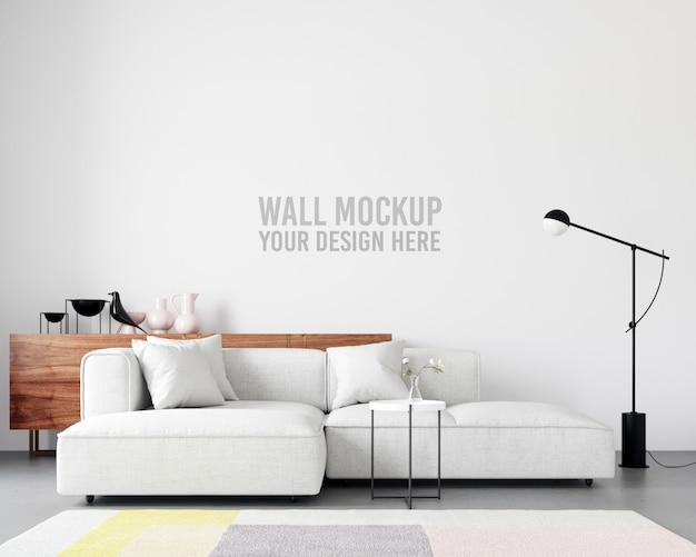 Interieur wallpaper mockup Premium Psd