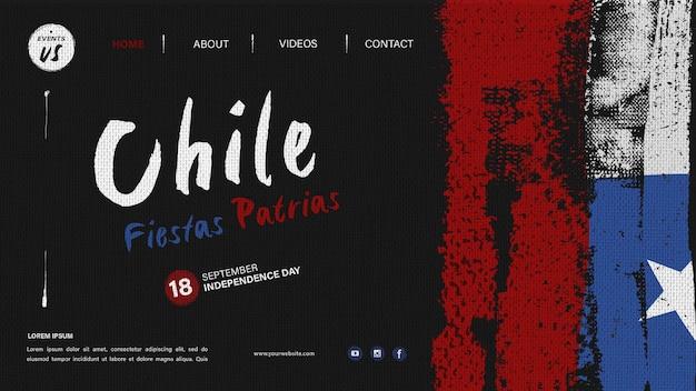 Internationale bestemmingspagina voor chili-dag Premium Psd