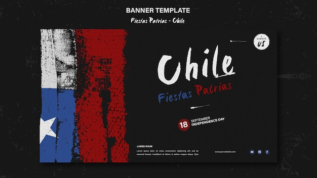 Internationale chili dag banner Gratis Psd