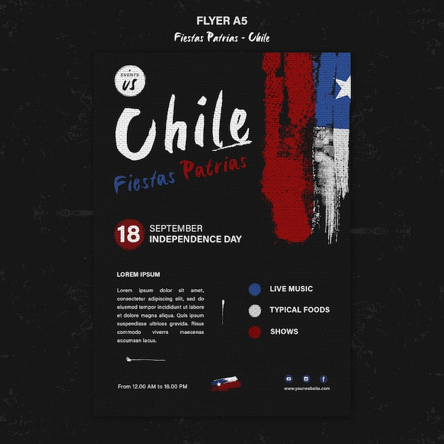 Internationale chili dag flyer-sjabloon Gratis Psd