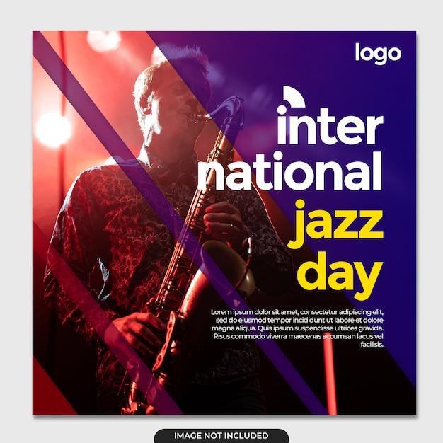 Internationale jazzdag social media sjabloon Premium Psd