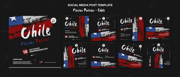 Internationale post op sociale media voor de dag van chili Premium Psd