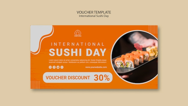 Internationale sushi-dagvoucher Gratis Psd