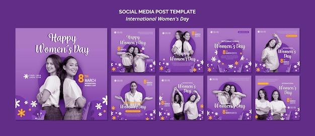 Internationale vrouwendag op sociale media Premium Psd