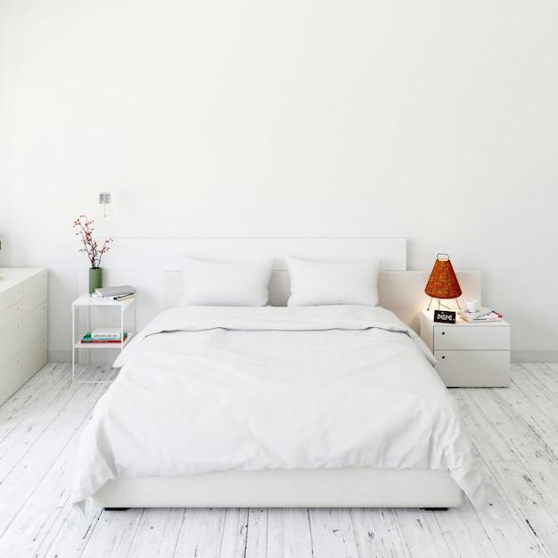 Interno camera da letto moderna Psd Gratuite