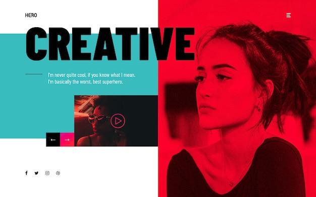 Intestazioni di eroe moderne e creative Psd Premium