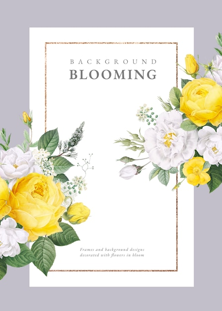 Invito a nozze di design floreale Psd Premium