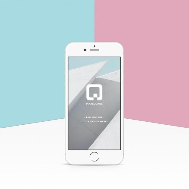 Iphone mock-up ontwerp Gratis Psd