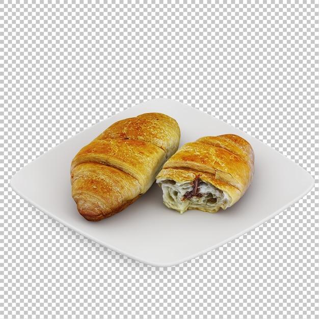 Isometrisch ontbijt Premium Psd
