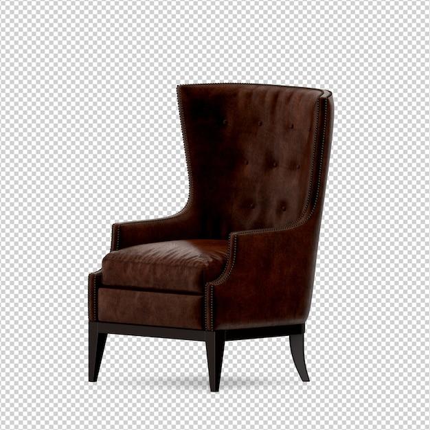 Isometrische 3d-stoel geïsoleerd Premium Psd