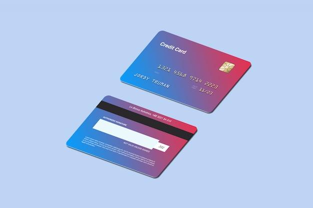 Isometrische creditcardmodel Premium Psd