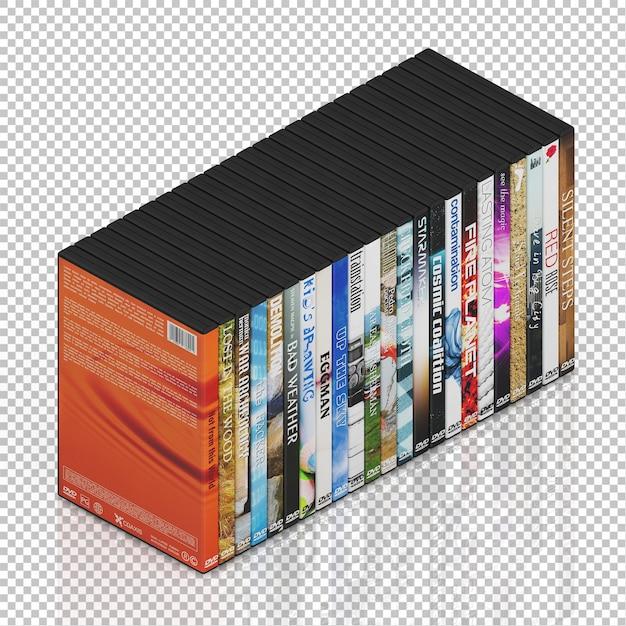 Isometrische dvd-cd Premium Psd
