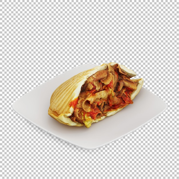 Isometrische fast food Premium Psd
