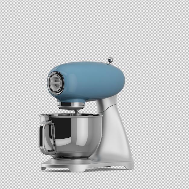 Isometrische geïsoleerde mixer 3d geeft terug Premium Psd