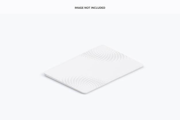 Isometrische gesloten laptop mockup Premium Psd