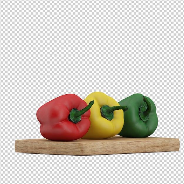 Isometrische groenten Premium Psd
