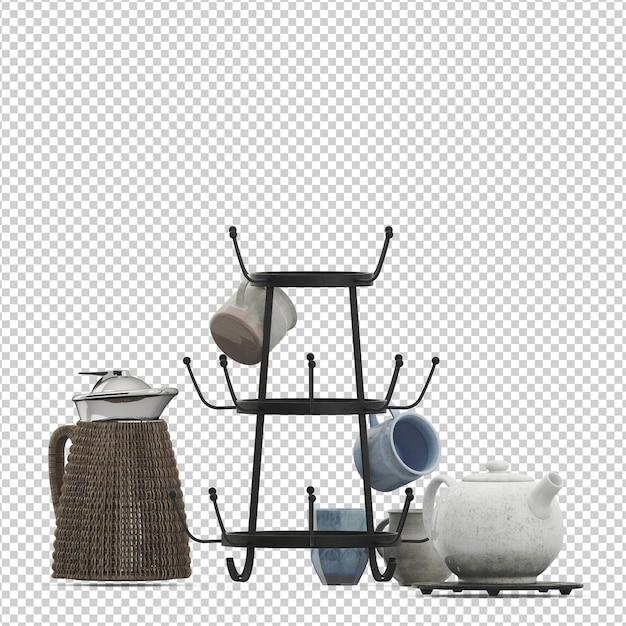 Isometrische keuken set Premium Psd