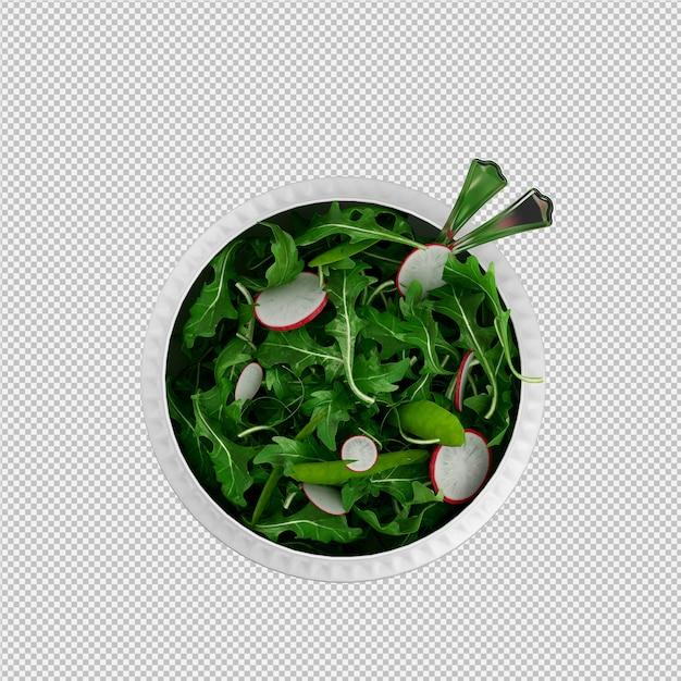 Isometrische salat 3d render Premium Psd