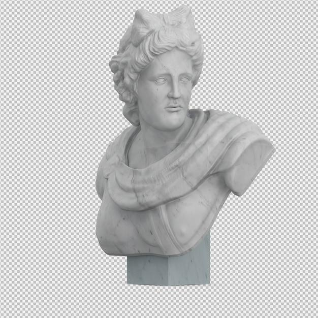 Isometrische standbeeld 3d geïsoleerd render Premium Psd