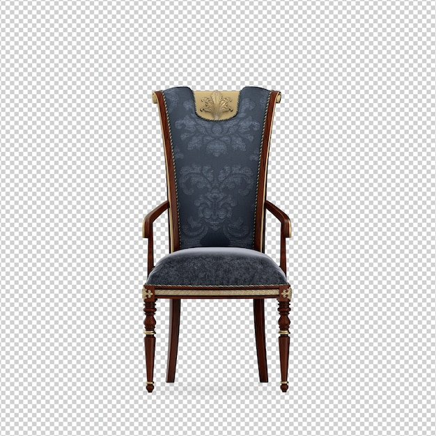 Isometrische stoel 3d geïsoleerde rendering Premium Psd