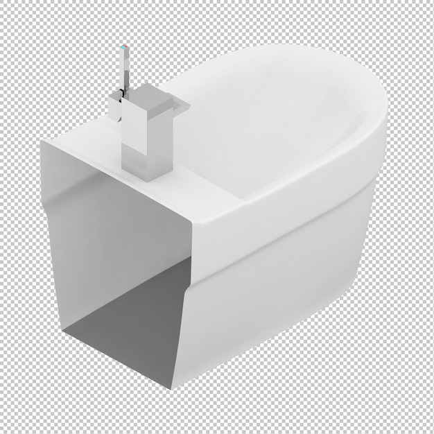 Isometrische toiler zinkt Premium Psd