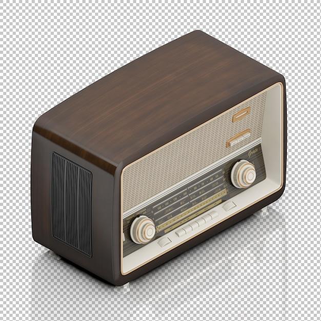 Isometrische vintage radio Premium Psd