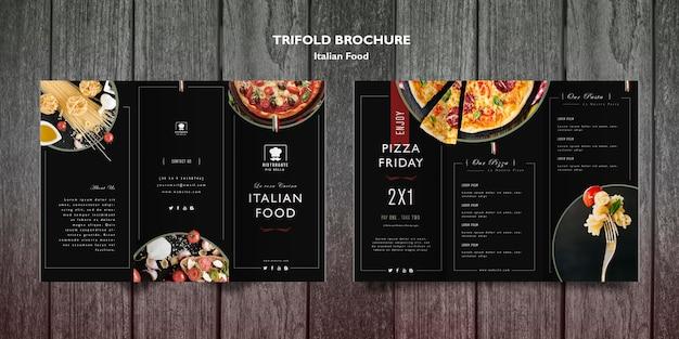 Italiaanse voedselbrochure Gratis Psd