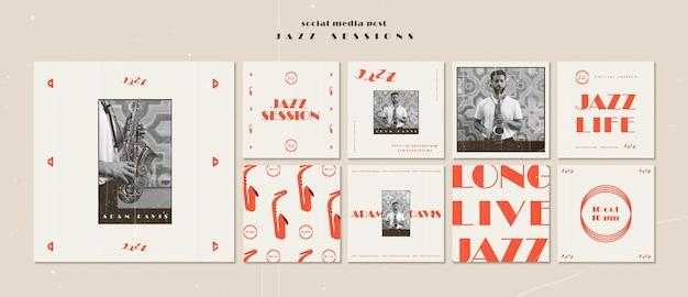 Jazz concept sociale media post sjabloon Gratis Psd