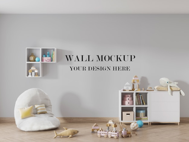 Jouw ontwerp op de muur van de kinderkamer Premium Psd