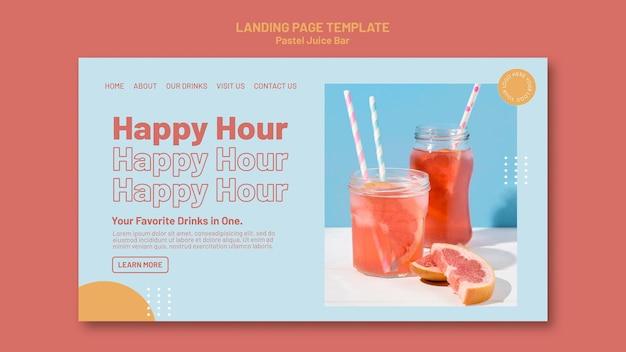 Juice bar-bestemmingspagina-sjabloon Premium Psd